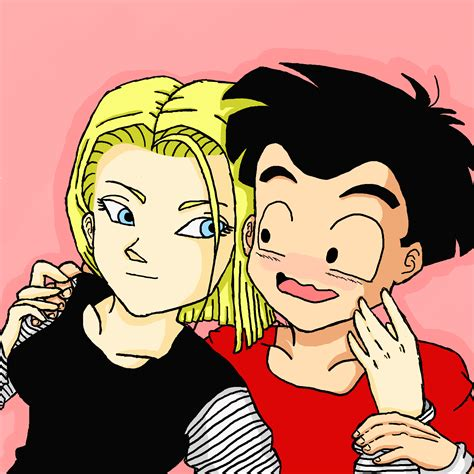 android 18 and krillin krillin x 18 hug by redheadsareawesome on deviantart