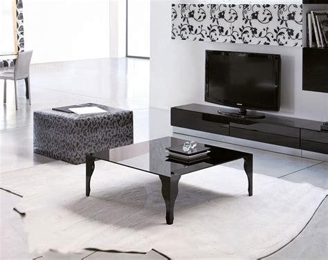 black living room table modern black coffee table