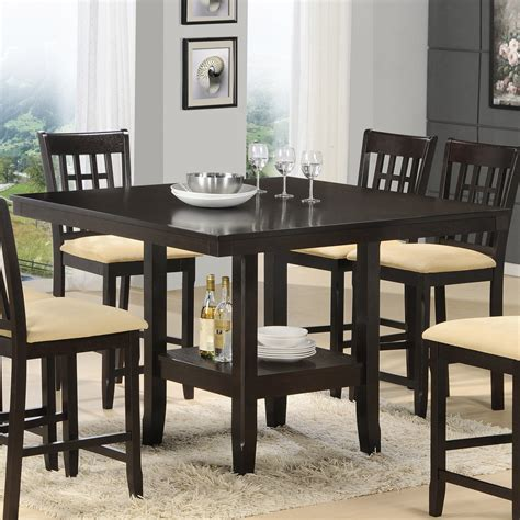 dining room table with wine rack marceladick