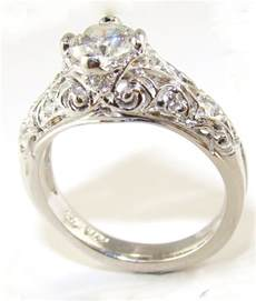 womens vintage wedding rings vintage engagement rings for wedding promise