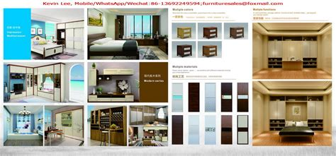 China Made Apartment Furniture Set By Cherry Wood Bed And