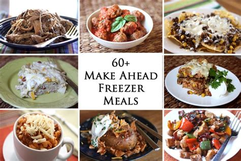 make ahead food gift 60 make ahead freezer meals barefeetinthekitchen