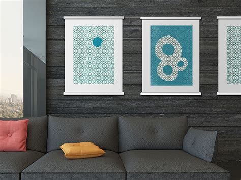 hang posters without frames the simplicity of framing in a classy way yanko design
