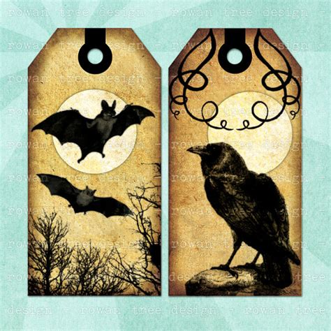 vintage decor design bookmark 5689 printable tags victorian gothic digital collage sheet spooky