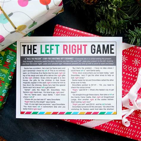 left right across gift exchange story 5 awesome gift exchange to play happy go lucky