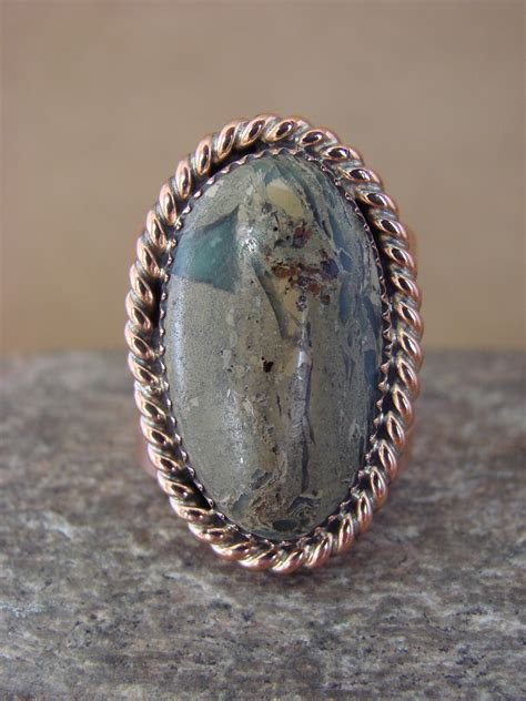 Navajo Handmade Jewelry - navajo indian jewelry handmade copper turquoise ring size