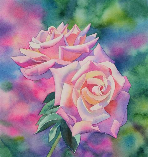 tutorial watercolor art watercolor rose painting tutorial step by step