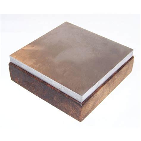 bench block steel steel bench block on wooden base 100mm x 100mm