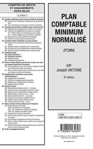 Plan comptable minimum normalisé (PCMN). Joseph Antoine