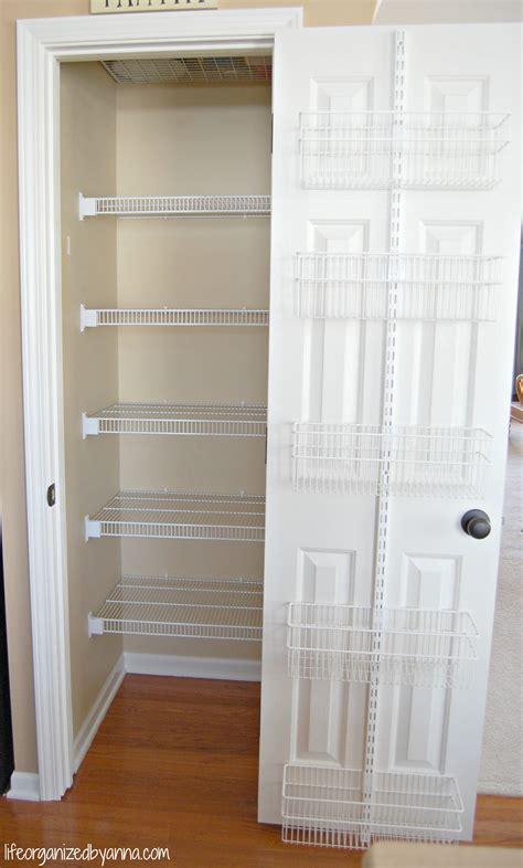 Small Pantry Door Organized Declutter Simplify Organize