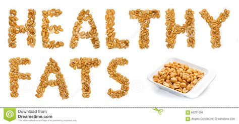 healthy fats peanuts healthy fats peanuts stock illustration image 66261698