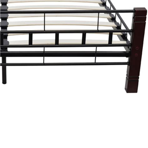 160x200 bed frame uk vidaxl double bed frame 160x200 cm black metal vidaxl co uk