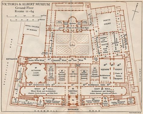 victoria and albert museum floor plan victoria albert museum ground floor vintage plan south