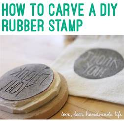 Build Custom Home Online How To Make A Diy Carved Rubber Stamp Dear Handmade Life