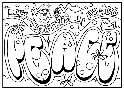 peaceful patterns coloring pages coloriage graffiti 224 imprimer