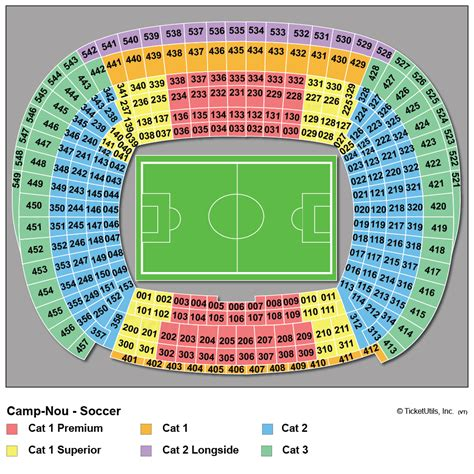 c nou stadium seat map c nou barcelonas hemmaarena fotbollsresor med ving