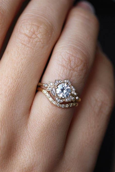 latest wedding band  fits  engagement rings
