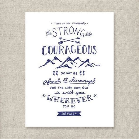 Be Strong And Courageous Joshua 1 9 Navy Christian | be strong and courageous joshua 1 9 navy christian
