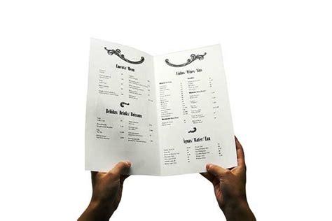 contoh desain menu kad 42 desain menu restoran yang akan menginspirasi anda