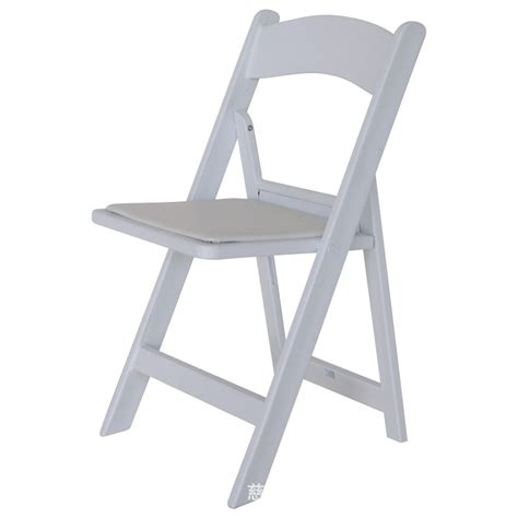 white resin folding chair in plastic chairs from furniture