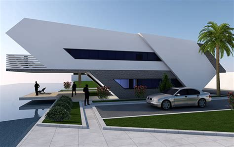 futuristic house a simple futuristic house on behance
