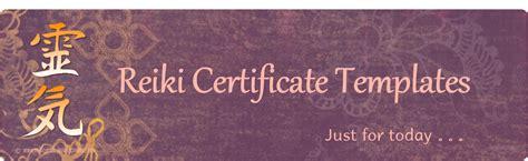 reiki certificate template reiki certificate templates