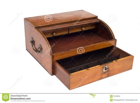 register schublade an opened vintage wooden register drawer stock photo