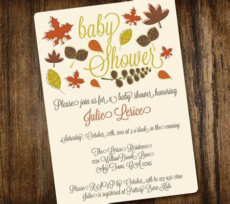 fall themed baby shower invitations cimvitation