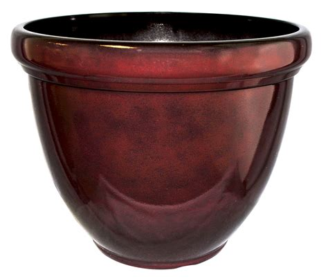 Hdr Planter hdr 12 quot heritage planter chocolate cherry southern patio