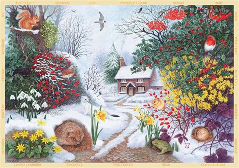 puzzle anne searle winter hedgerow jumbo