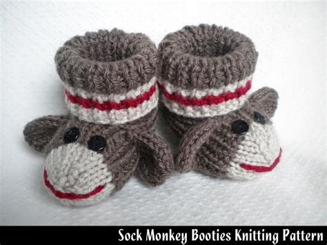 free baby sock knitting pattern sock monkey baby booties monkey socks and knitting patterns
