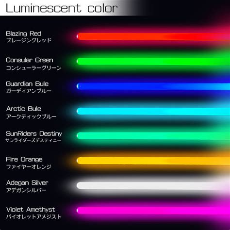 different colored lightsabers 楽天市場 ultra sabers the guardian 全8色 コスプレ 衣装 光る リアル ライト