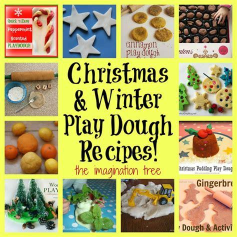 christmas dough recipe 12 and winter play dough recipes the imagination tree