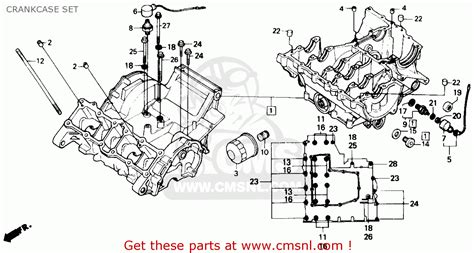 hurricane l parts honda cbr600f hurricane 1990 l usa crankcase set buy