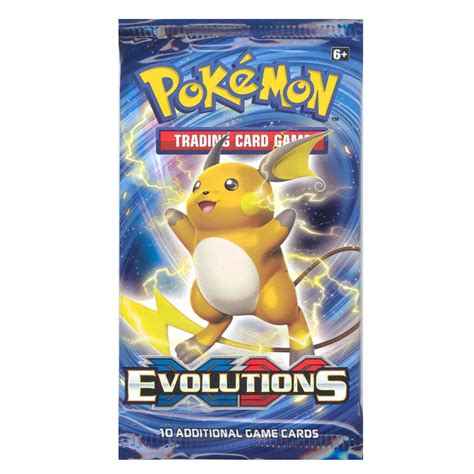 Gift Card Pack - pokemon cards xy evolutions booster pack 10 cards bbtoystore com toys plush