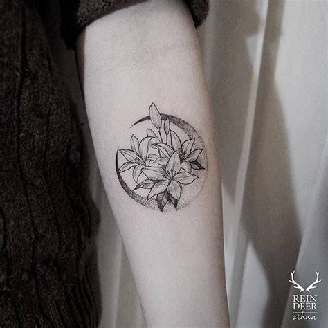 moon flower tattoo design 25 best ideas about inner forearm on