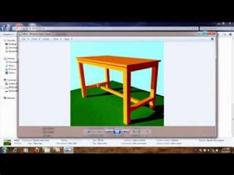 tutorial menggambar dengan google sketchup menggambar meja dengan google sketchup 8 youtube