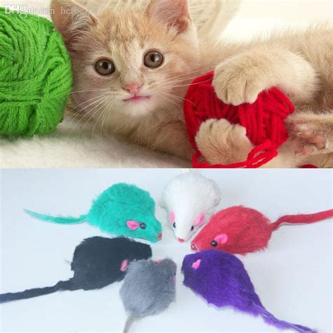 bright house drop off wholesale new cute mini pet kitten cats bright colored little animation mouse mice