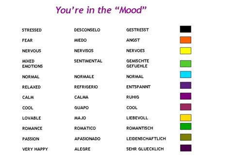 mood and colors mood necklace color meanings www pixshark com images