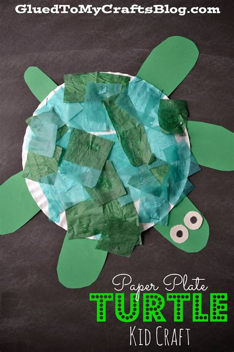 crafting a green world the home for green crafts and paper plate turtle kid craft