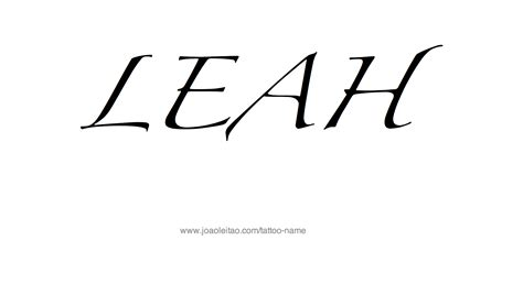 leah tattoo designs design name 20 14 png