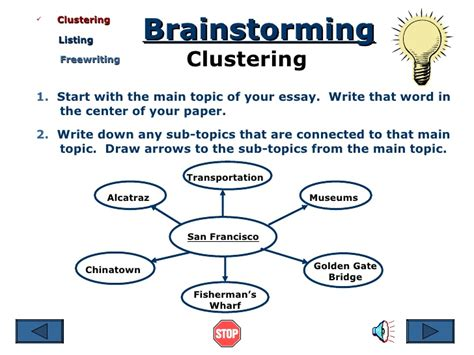 research paper on clustering brainstorming