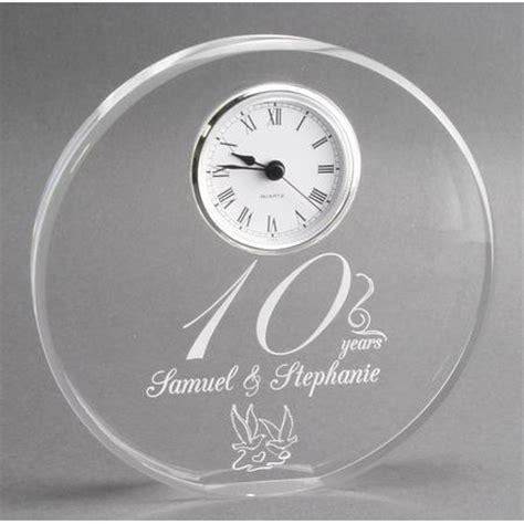 10th wedding anniversary gifts modern 10th year anniversary gift clock