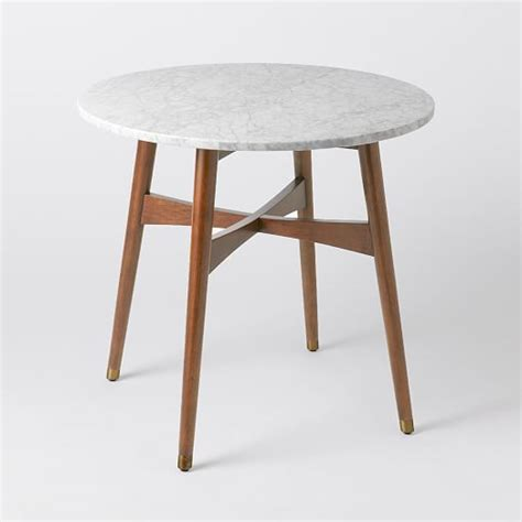 elm bistro table reeve mid century bistro table elm