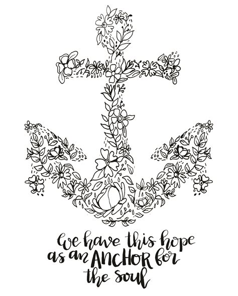 anchor coloring page i refuse to sink anchor coloring pages sketch coloring page
