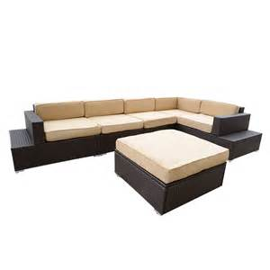 outdoor wicker sectional sofa 6pcs outdoor patio pe rattan sofa set wicker sectional
