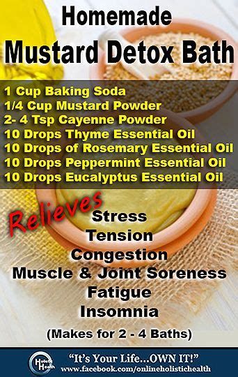 Baking Soda In Bath Detox by Mustard Detox Bath We Could All Do With A