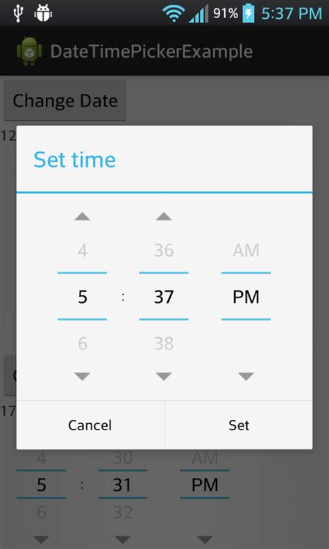 timepicker android android development tutorial for beginners