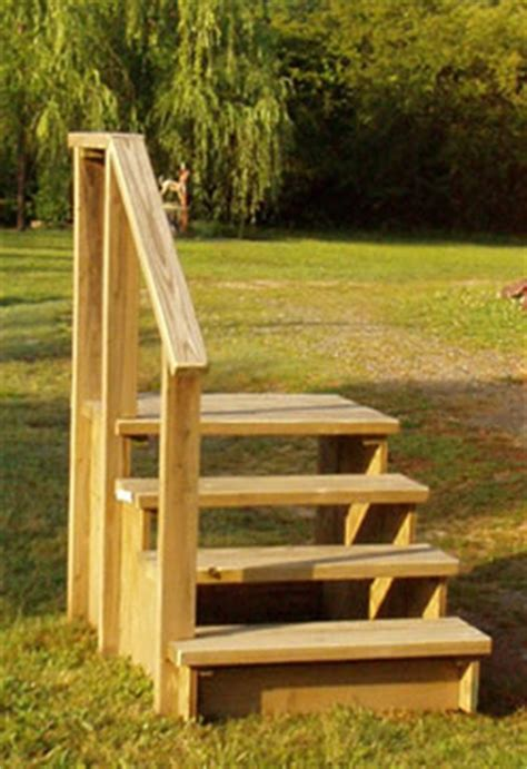 mobile home steps with rails