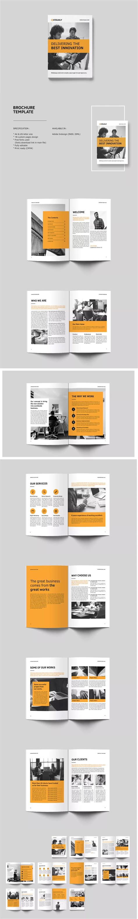 Indesign Business Card Template A4 by 517 Best Brochure Templates Images On